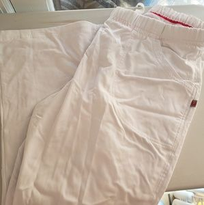 large petite urbane white scrub pants
